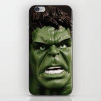 hulk iPhone & iPod Skins featuring Hulk by Beastie Toyz