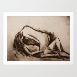 Female Figure Study In Love Art Print