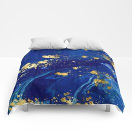 Royal Blue Marble Comforters