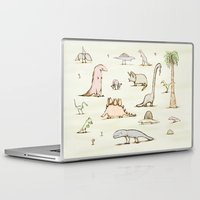 dinosaurs Laptop & iPad Skins featuring Dinosaurs by Sophie Corrigan
