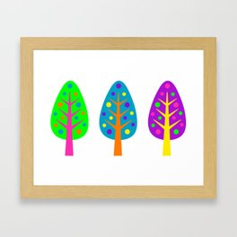 CHRISTMAS TREES_COLORFUL Framed Art Print