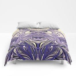 Blue Oil Gestalt Abstract III Art Comforters
