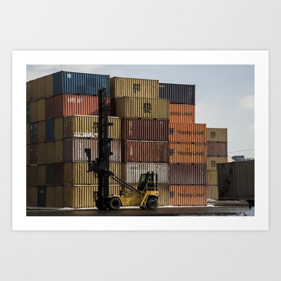 Pointe St. Charles Freight Moving Art Print