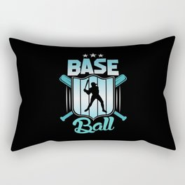 Baseball Sport Home Run Player Hobby Shirt Design Rectangular Pillow