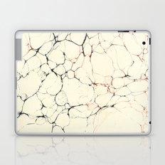 Marble Cream Blue / Orange Square # 2 Laptop & iPad Skin
