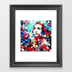 Rose Lady, Floral Patch Framed Art Print