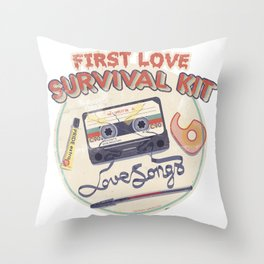 First Love Survival Kit Throw Pillow