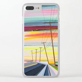 Long Beach Dusk Clear iPhone Case