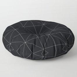 Geometric black and white Floor Pillow
