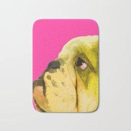 Pop art English bulldog portrait Bath Mat