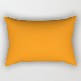 Turmeric | Pantone Fashion Color | Spring : Summer 2019 | New York and London | Solid Color Rectangular Pillow