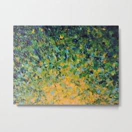 IRISH SUNRISE - Beautiful BOLD Lime Kelly Forest Green Sunrise Sunset Abstract Nature Painting Metal Print