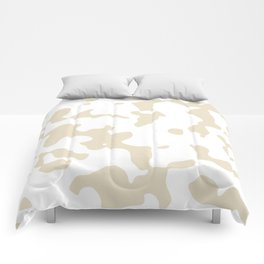 Large Spots - White and Pearl Brown Comforters