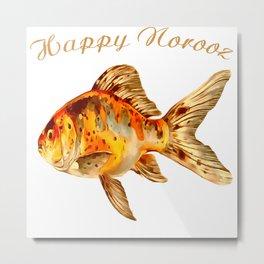 Elegant Happy Norooz Goldfish Persian New Year Metal Print