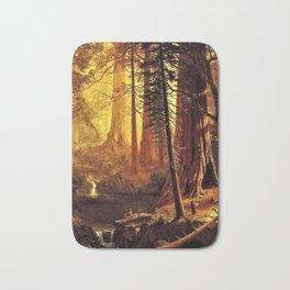 Giant Redwood Trees of California by Albert Bierstadt Bath Mat