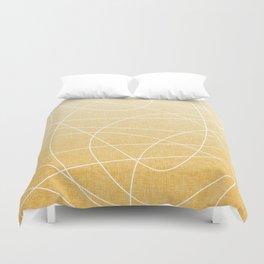 Scribble Linen - Sunflower Yellow Duvet Cover