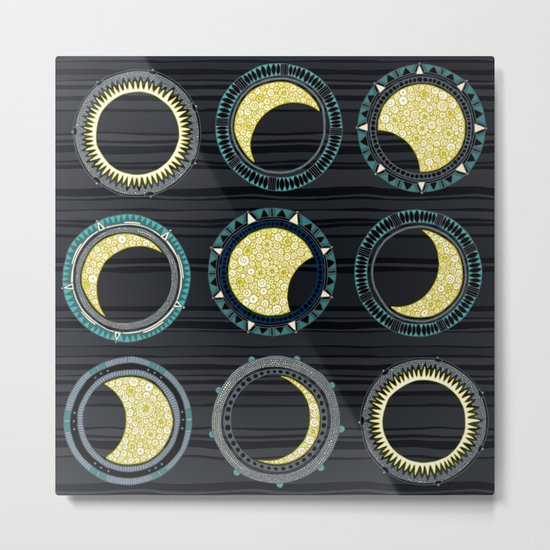 solar eclipse mandala Metal Print