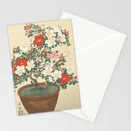 Vintage Azalea Japanese Woodcut Stationery Cards
