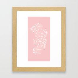 Basketball Swarm / ROSE Framed Art Print