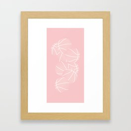 Basketball Swarm / ROSE Framed Art Print
