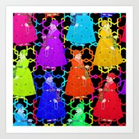 Colourful Fat Maharajas Tripping Together Art Print