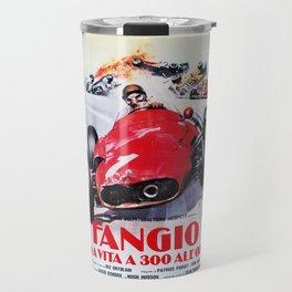 Fangio, Race poster, Vintage poster, F1 poster Travel Mug