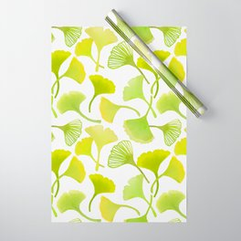 First Day of Autumn Ginkgo Leaves Wrapping Paper