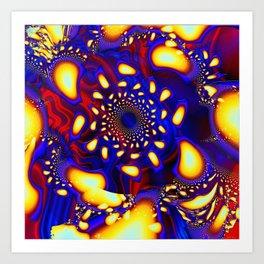 KaleidoBerries Psychedelic Fused Glass Fractal Art Print