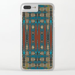 South Western Color Palette Mosaic Pattern Clear iPhone Case