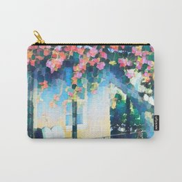 Old Porch of Pink and Teal by CheyAnne Sexton Carry-All Pouch