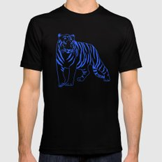 Blue Tiger LARGE Mens Fitted Tee Black