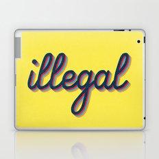 Illegal - yellow version Laptop & iPad Skin