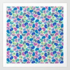Paisley Bubble Pattern Art Print