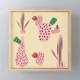 Mid Mod Cactus Pink Framed Mini Art Print