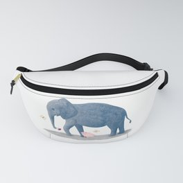 blue elephant with his friend the little pig Fanny Pack