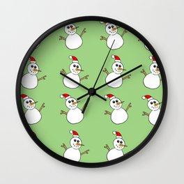 Xmas Snowman Wall Clock