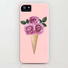 Floral Ice Cream iPhone Case