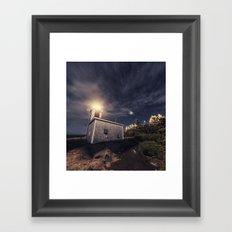 Point Prim Lighthouse Framed Art Print
