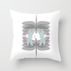 dragonfly pattern 5 Throw Pillow