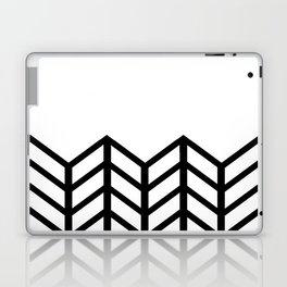 BLACK & WHITE LACE CHEVRON Laptop & iPad Skin