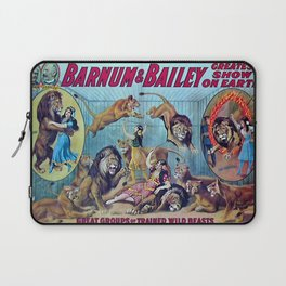 1910 Barnum & Bailey Circus Dancing Lions - M'lle Adgi's Acting Vintage Poster Laptop Sleeve
