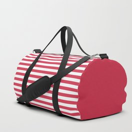 Red white striped Duffle Bag