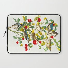 Vintage Scientific Bird & Botanical Illustration Laptop Sleeve