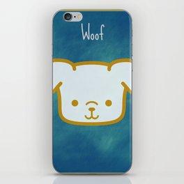 Woof - Dog Graphic - Chalkboard Inspired iPhone Skin
