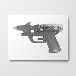 BW Candy Gun Metal Print