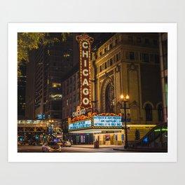 Balaban and Katz Chicago Theatre Art Print