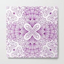 Mindful Mandala Pattern Tile MAPATI 4 Metal Print