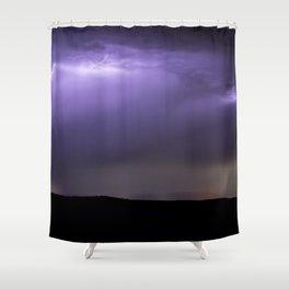 Summer Lightning Storm On The Prairie XIII - Nature Landscape Shower Curtain