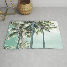 Under the palms Rug