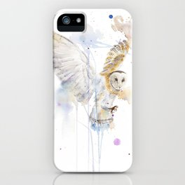 "Watercolor Painting of Picture ""White Owl"" iPhone Case"